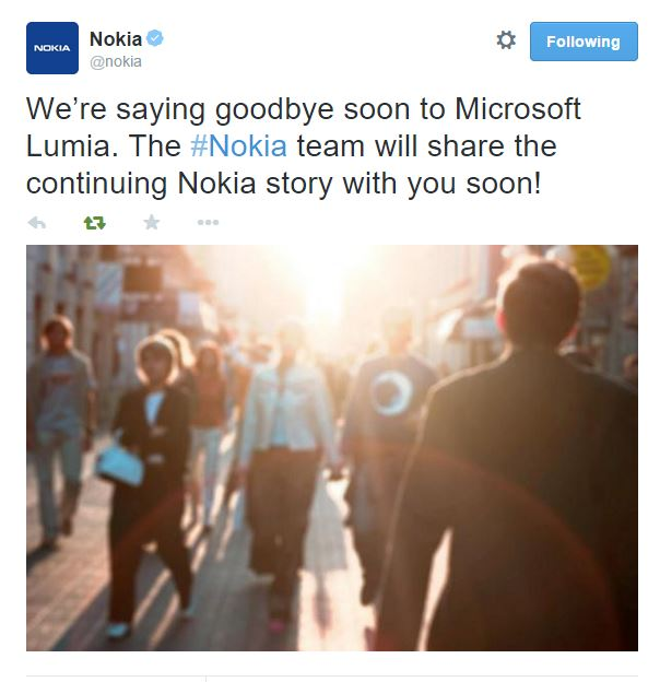 goodbye Lumia