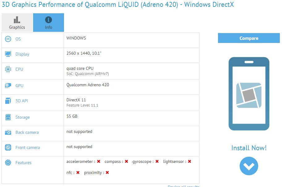 Tablet running Windows 10 in the making?