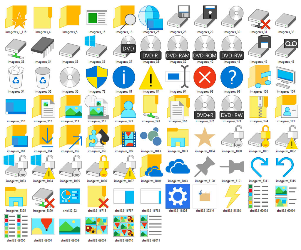 Download The New Icons Of Windows 10 Build 10036