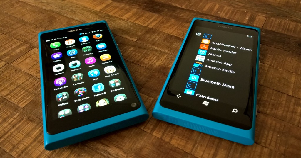 The N9 and the Lumia 800