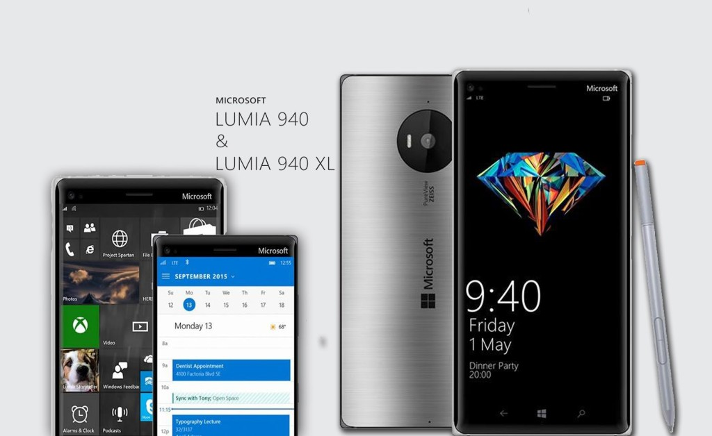 Unofficial renderings of possible Lumia flagships