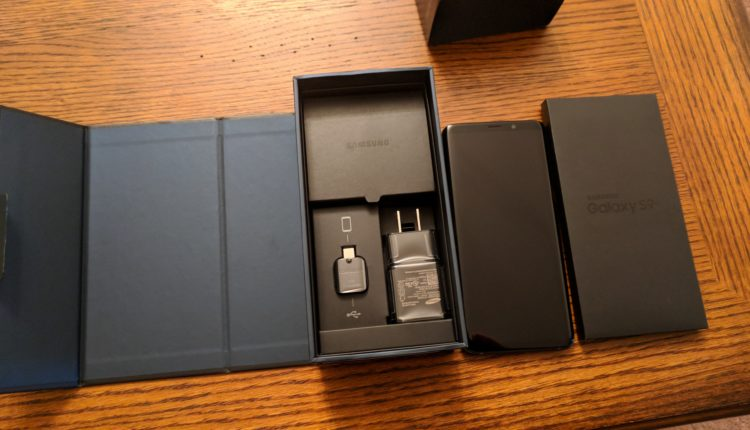 Galaxy S9+ box contents