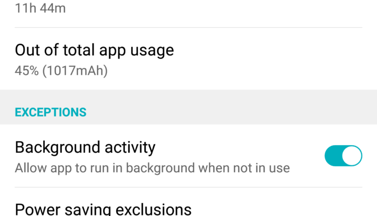 Snapchat Over Usage of Battery