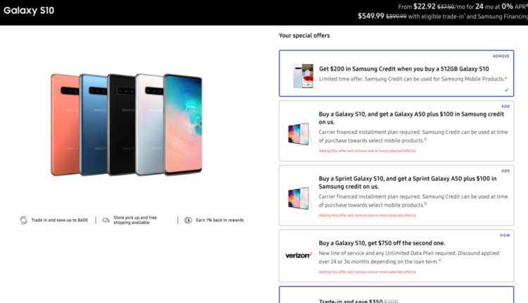 Galaxy S10 Black Friday